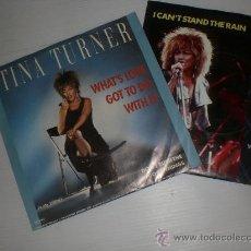 Discos de vinilo: TINA TURNER, LOTE 2 SINGLES EDITADOS EN FRANCIA, COMO NUEVOS. VER + INFORMACION OFERTA. Lote 161222645