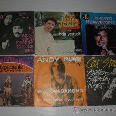 Discos de vinilo: LOTE Nº25 - 6 SINGLES SELECCION POP-ROCK AÑOS 70, EDICIONES CENTROEUROPEAS, EXCELENTE ESTADO + INFOR. Lote 29732240
