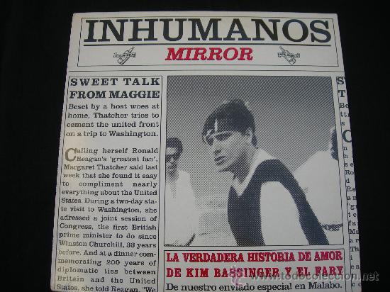 MAXI LOS INHUMANOS // LA VERDADERA HISTORIA DE AMOR DE KIM BASSINGER Y EL FARY (Música - Discos de Vinilo - Maxi Singles - Grupos Españoles de los 90 a la actualidad)