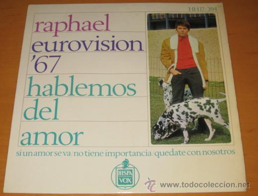 RAPHAEL - EUROVISION 67 - HABLEMOS DEL AMOR + 3 - EP - BSO AL PONERSE EL SOL - N MINT (Música - Discos de Vinilo - EPs - Festival de Eurovisión)