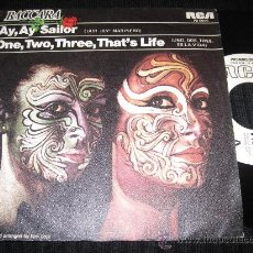 Discos de vinilo: BACCARA - AY , AY , SAILOR / ONE , TWO , THREE , THAT'S LIFE ( PROMO ESPAÑOL ). Lote 29746310