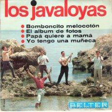 Discos de vinilo: LOS JAVALOYAS - BOMBONCITO MELOCOTÓN + 3 (EP DE 4 CANCIONES) BELTER 1966 - VG++/VG++. Lote 29753609