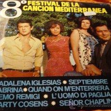 Discos de vinilo: 8º FESTIVAL DE LA CANCION MEDITERRANEA. MADALENA IGLESIAS. MEMO REMIGI. MARTY COSENS ... IMPECABLE. Lote 29754597