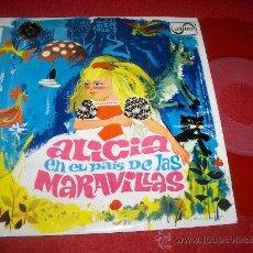 """Discos de vinil: ALICIA EN EL PAIS DE LAS MARAVILLAS TEATRO INVISIBLE RADIO NACIONAL + LUIS FERRE 7"""" EP 1967 ZAFIRO . Lote 29767653"""