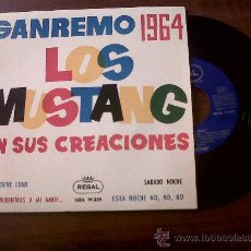 Discos de vinilo: SINGLE LOS MUSTANG-SAN REMO 1964-REGAL-. Lote 29768404
