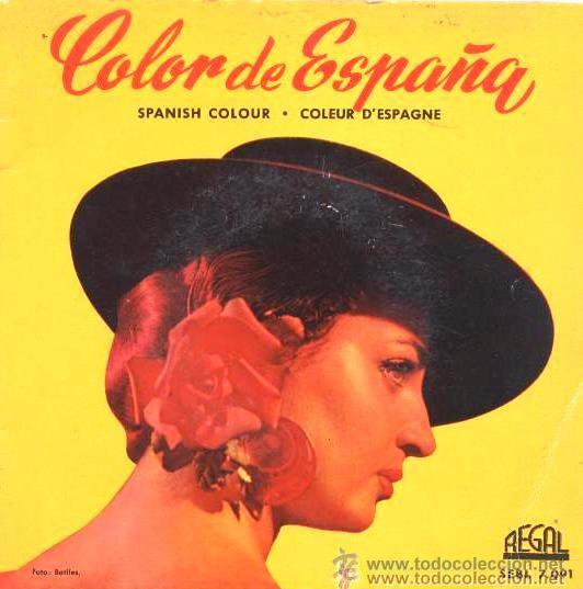COLOR DE ESPAÑA - EP DE 6 CANCIONES CON LIBRETO DE 8 PÁGINAS - 1959 - EXCELENTE CONSERVACIÓN (Música - Discos de Vinilo - EPs - Flamenco, Canción española y Cuplé)