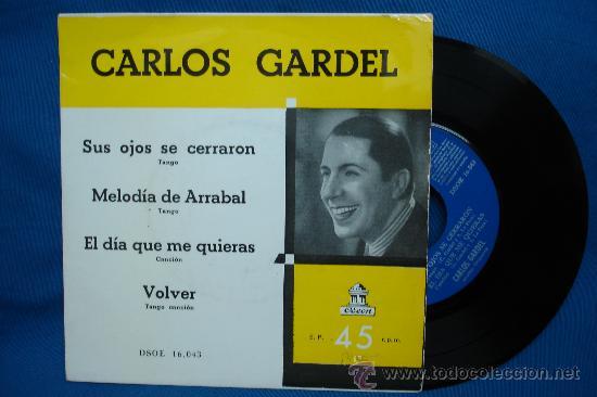 - CARLOS GARDEL - SUS OJOS SE CERRARON + 3 - ODEON DSOE 16.043 AÑOS 50/60 (Música - Discos - Singles Vinilo - Grupos y Solistas de latinoamérica)