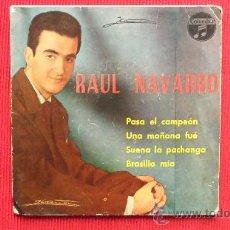 Discos de vinilo: RAUL NAVARRO Y ORQUESTA JAIME POCOVI - 1962. Lote 29822891