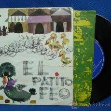 Discos de vinilo: - EL PATITO FEO - CUENTO INFANTIL - NARRACIÓN, VOCES Y EFECTOS SONOROS - DISCOPHON 27.146 AÑO 1962. Lote 29824632