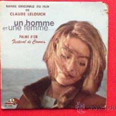Discos de vinilo: FESTIVAL DE CANNES - UN HOMME ET UNE FEMME - NICOLE CROISILLE ET PIERRE BAROUH. Lote 29826312
