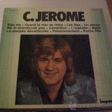 Discos de vinilo: C. JEROME, HITS. LP IMCPACT FRANCE, EXCELENTE ESTADO. Lote 29776032