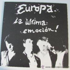 Discos de vinilo: EUROPA - LA ULTIMA EMOCION (VINILO+LIBRETO) DESCATALOGADO EDICION LIMITADA (GLAMOUR). Lote 29787005