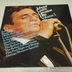 Discos de vinilo: JOHNNY CASH 'JOHNNY CASH'S GREATEST HITS VOLUME 1' 1967-HOLANDA LP33 CBS RECORDS. Lote 29788309