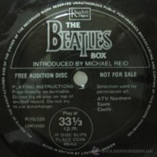 Discos de vinilo: THE BEATLES - PROMO FLEXI DISC SAMPLER THE BEATLES BOX - SINGLE LYNTONE 1980 BPY. Lote 32687068