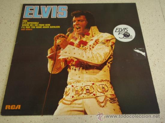 ELVIS PRESLEY ' ELVIS ' 1973 - GERMANY LP33 RCA RECORDS (Música - Discos - LP Vinilo - Rock & Roll)
