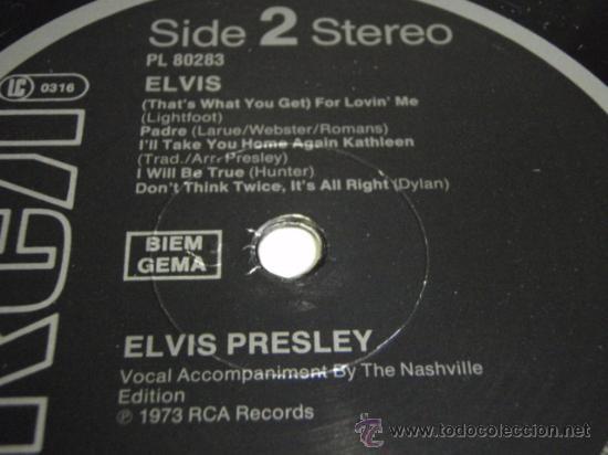 Discos de vinilo: ELVIS PRESLEY ' ELVIS ' 1973 - GERMANY LP33 RCA RECORDS - Foto 4 - 29800164