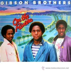 Discos de vinilo: GIBSON BROTHERS –LP ON THE RIVIERA 1980 MILP 1313 SCANDINAVIA . Lote 29801296
