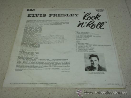 Discos de vinilo: ELVIS PRESLEY ' ROCK 'N' ROLL ' ENGLAND - 1972 LP33 RCA RECORDS - Foto 2 - 29808666