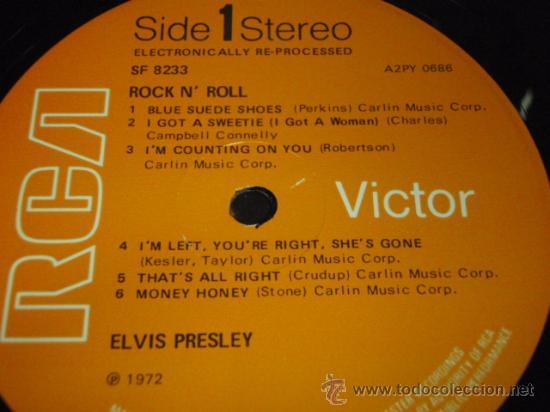 Discos de vinilo: ELVIS PRESLEY ' ROCK 'N' ROLL ' ENGLAND - 1972 LP33 RCA RECORDS - Foto 3 - 29808666