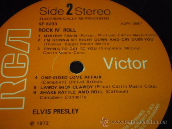 Discos de vinilo: ELVIS PRESLEY ' ROCK 'N' ROLL ' ENGLAND - 1972 LP33 RCA RECORDS - Foto 4 - 29808666