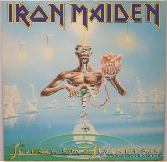 IRON MAIDEN SEVENTH SON OF A SEVENTH SON LP EMI 1988 (Música - Discos - LP Vinilo - Heavy - Metal)
