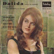 Discos de vinilo: EP-DALIDA-BARCLAY 28302-EDIC.ESPAÑOLA-TRI CENTER. Lote 29849399