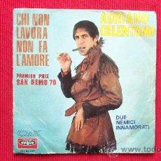 Disques de vinyle: ADRIANO CELENTANO - 1º PREMIO SAN REMO 1970. Lote 29859404