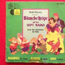 Discos de vinilo: BLANCHE NEIGE ET LES SEPT NAINS. Lote 29876324