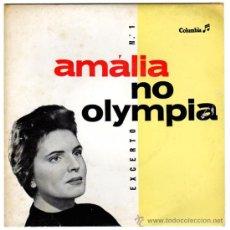 Discos de vinilo: AMÁLIA RODRIGUES - NO OLYMPIA EXCERTO Nº 1 – EP PORTUGAL - COLUMBIA SLEG 5007. Lote 29877836