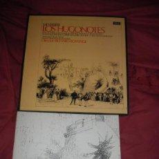 Discos de vinilo: MEYERBEER LOS HUGONOTES..SUTHERLAND..BONYNGE..CAJA 4 LP LIBRETO DECCA 1971 SPA. Lote 29878133
