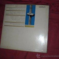 Discos de vinilo: BEETHOVEN BERNSTEIN MISSA SOLEMNIS 2 LP EN CAJA M25 619 COLUMBIA USA. Lote 29879137