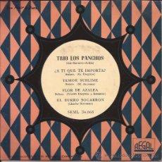 Discos de vinilo: EP-TRIO LOS PANCHOS-REGAL 34068--TITULOS EN PORTADA. Lote 29885038
