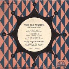 Discos de vinilo: EP-TRIO LOS PANCHOS-REGAL 34060-TITULOS EN PORTADA. Lote 29885098