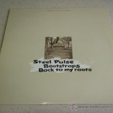 Discos de vinilo: STEEL PULSE – BOOTSTRAPS / BACK TO MY ROOTS USA,1994 MCA RECORDS. Lote 29906761