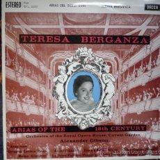 Discos de vinilo: TERESA BERGANZA 'ARIAS DEL SIGLO XVIII' LP DECCA 1961. Lote 29965902