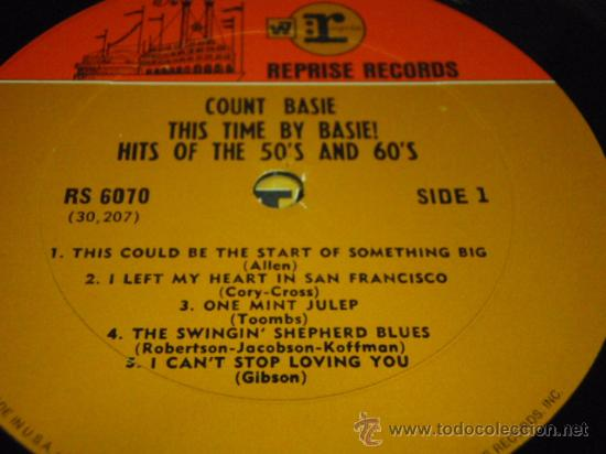 Discos de vinilo: COUNT BASIE 'THIS TIME BY BASIE! HITS OF THE 50'S AND 60'S' Arrangements by QUINCY JONES USA LP - Foto 3 - 29930805