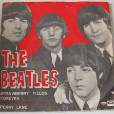Discos de vinilo: THE BEATLES - PENNY LANE / STRAWBERRY FIELDS FOREVER - SINGLE ESPAÑOL ODEON1967. Lote 29940040