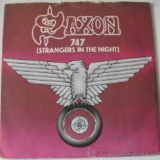 Discos de vinilo: SAXON - 747 STRANGERS IN THE NIGHT - SINGLE FRANCES 1980. Lote 29940087