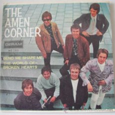 Discos de vinilo: AMEN CORNER - BEND ME SHAPE ME - SINGLE PROMOCIONAL CON EL TRICENTER Y COMO NUEVO!!. Lote 29963997