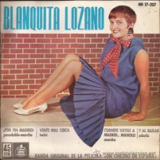 Discos de vinilo: EP-BLANQUITA LOZANO-HISPAVOX 17207. Lote 29965615