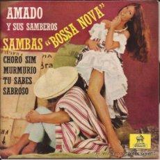 Discos de vinilo: EP-AMADO Y SUS SAMBEROS-ODEON 16510-BOSSA NOVA-1962-. Lote 29965807