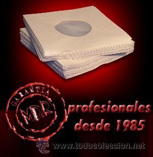 25 FUNDAS PAPEL ANTIESTATICAS PARA DISCOS DE VINILO SINGLE 7 Y EP -CUIDA TUS SINGLES !- (Música - Discos de Vinilo - EPs - Otros estilos)
