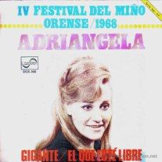 Disques de vinyle: ADRIANGELA-GIGANTE + EL QUE ESTE LIBRE SINGLE VINILO 1968 PROMOCIONAL SPAIN. Lote 29985086
