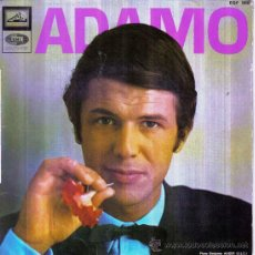 Discos de vinilo: ADAMO - LE NEON + VIVRE + UNE LARME AUX NUAGES + DIS, MA MUSE EP SPAIN. Lote 270550628