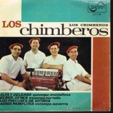 Discos de vinilo: LOS CHIMBEROS - ALTA Y DELGADA / BEBER, BEBER / LOS PINTORES DE VIRTORIA / ADIOS PAMPLONA - EP 1966. Lote 30004011