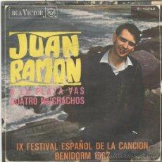 Discos de vinilo: JUAN RAMON. FESTIVAL DE BENIDORM 1967. RCA 1967.. Lote 30005874