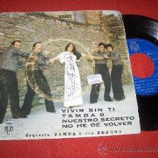 """Discos de vinilo: ORQUESTA TAMBA 8 CON BLANCA VIVIR SIN TI / NUESTRO SECRETO ..+2 7"""" EP 1976 BCD GRUPO ESPAÑOL. Lote 56006693"""