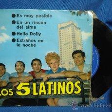 Discos de vinilo: - LOS 5 LATINOS - ES MUY POSIBLE + 3 - BELTER 1966. Lote 30058514