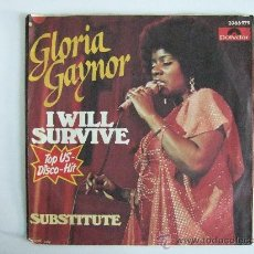 Discos de vinil: GLORIA GAYNOR - SINGLE VINILLO POLYDOR 1978 - I WILL SURVIVE - SUBSTITUTE. Lote 30026362