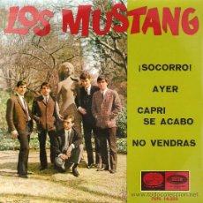 Discos de vinilo: EP LOS MUSTANG : SOCORRO + 3 (INCLUYE DOS TEMAS DE THE BEATLES) . Lote 30030907